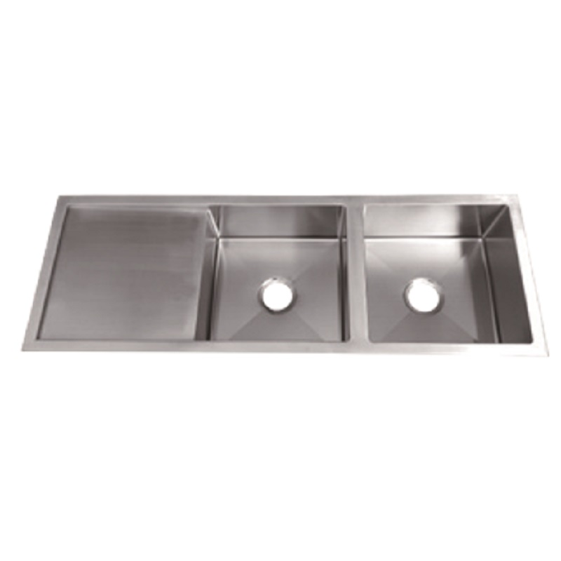 SS 1346 IMPACT DOUBLE BOWL SINK WITH DRAINER