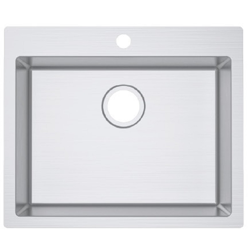 SS 6051 IMPACT COUNTERTOP SINK WITH TAP HOLE