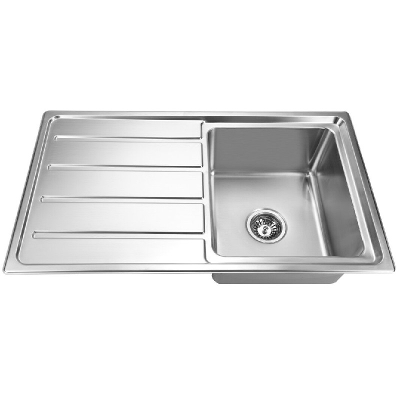 SS 8650 COUNTERTOP SINK ONE BOWL WITH DRAINER