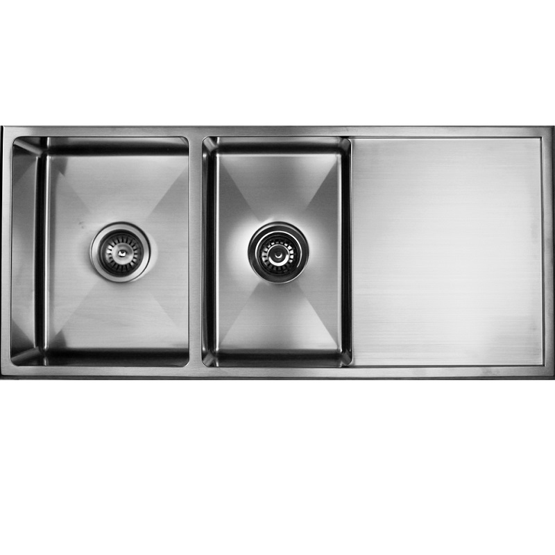 SS 9845R COUNTERTOP SINK ONE AND 3/4 BOWL WITH DRAINER