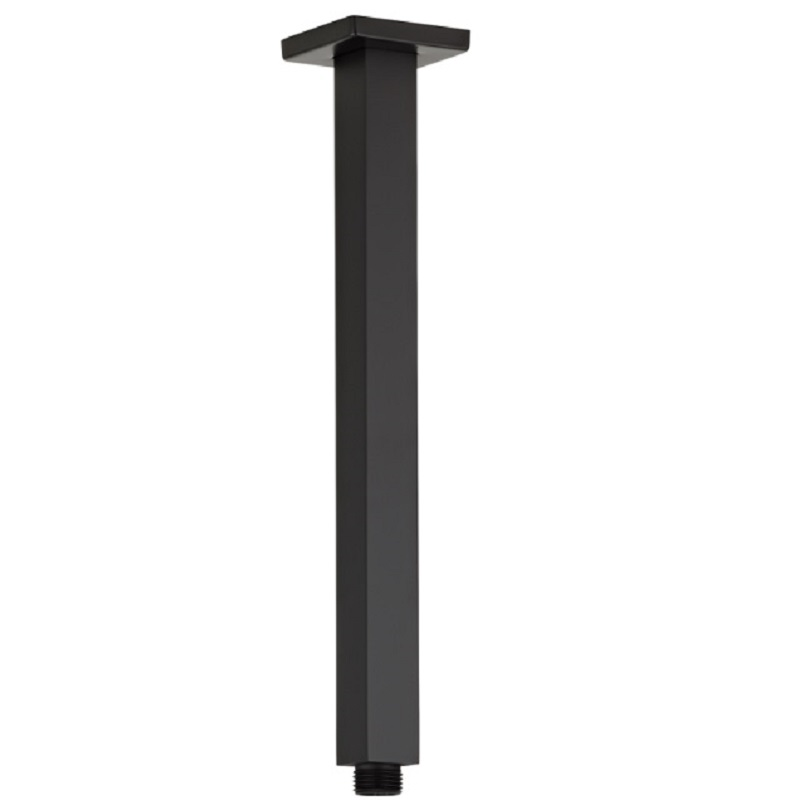 SH SQCelingBK/4 ACQUA BLACK Ceiling Dropper 400mm Matte Black Finish