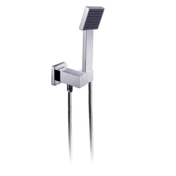 TP2002 BIANCO Square Single Function Shower Head on Bracket