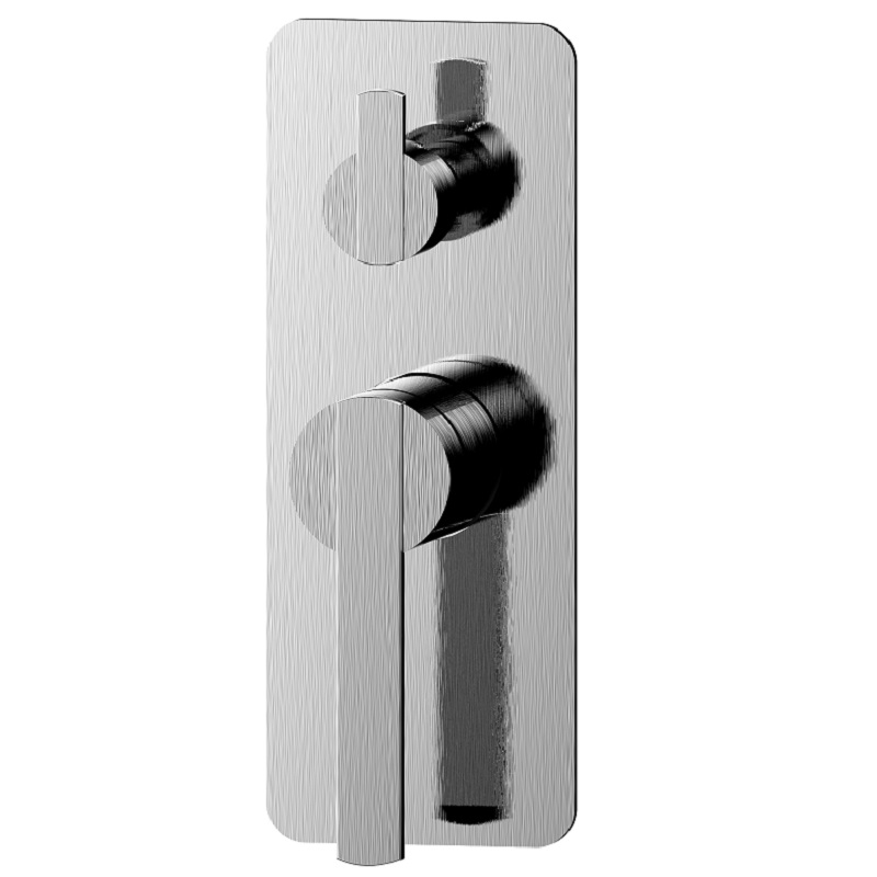 WT 2319BN NIKO Shower Mixer with Diverter Brushed Nickel Finish