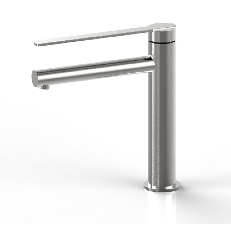 WT 2333BN NIKO Tower Basin Mixer Brushed Nickel Finish