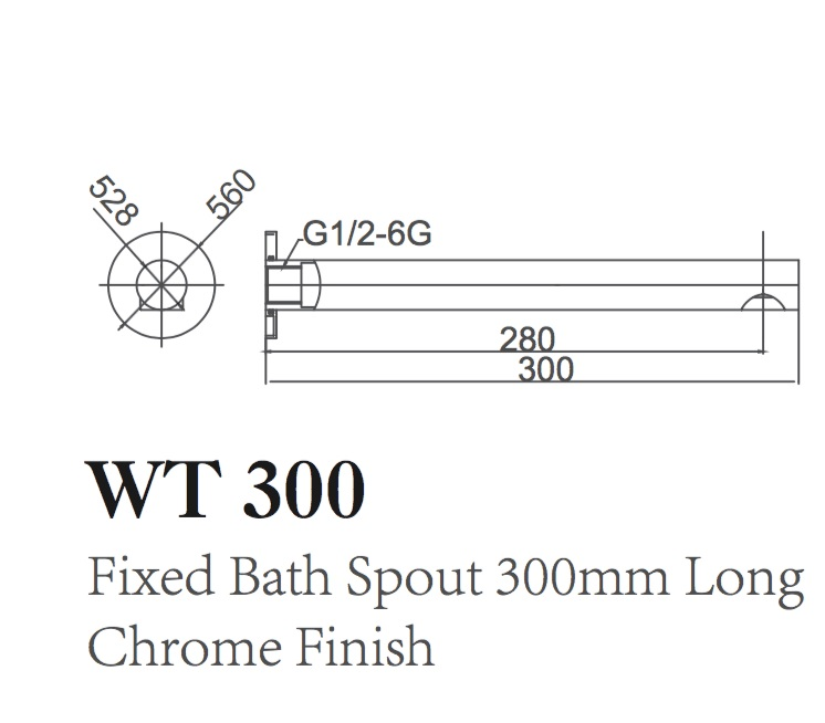 WT 300 JAMIE Fixed Bath Spout