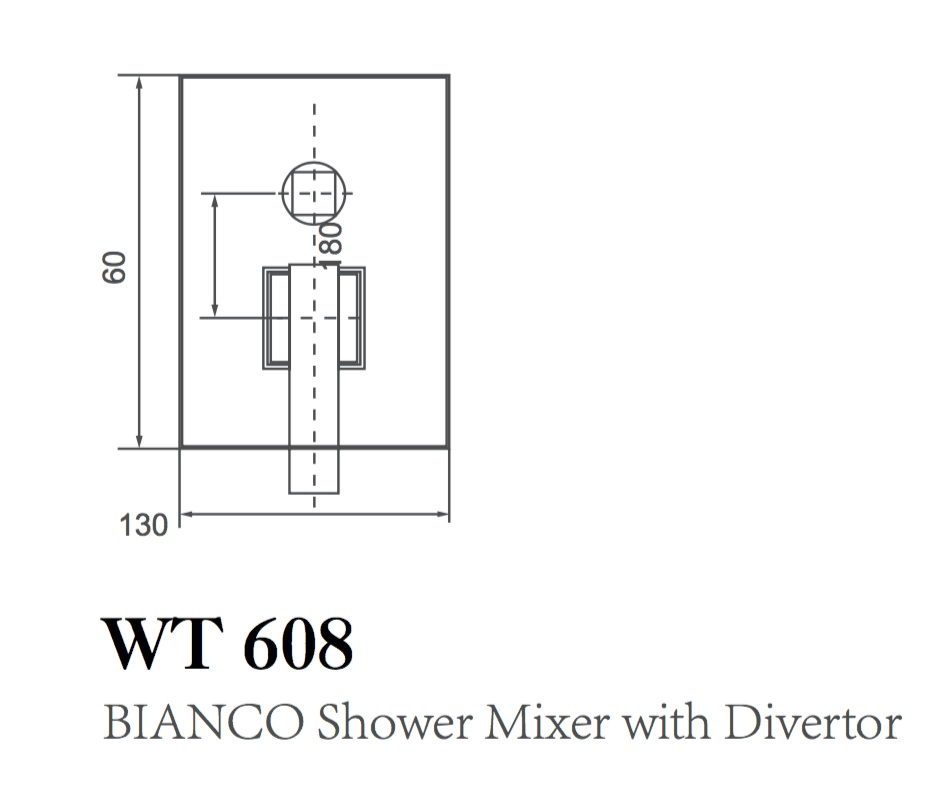 WT 608 BIANCO Shower Mixer with Divertor