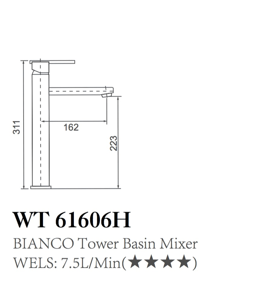 WT 6106H BIANCO Tower Mixer