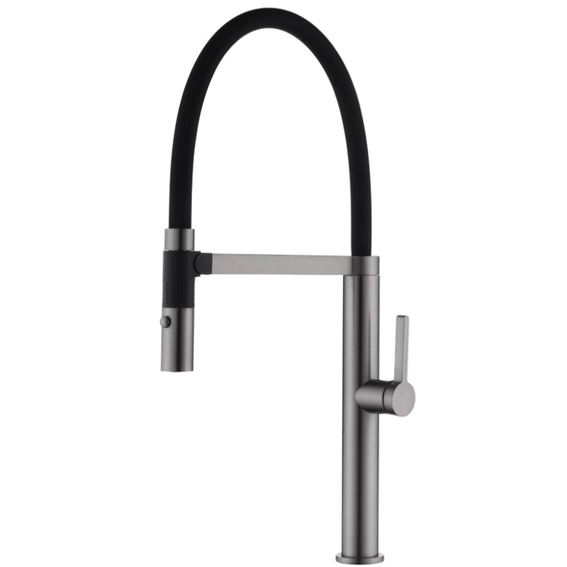 WT 6205GM NIXON Sink Mixer w/Black Hose Gun Metal finish