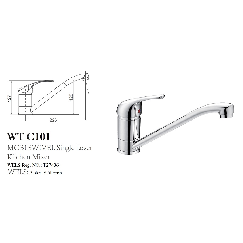 WT C101 MOBI Kitchen Mixer (40mm)