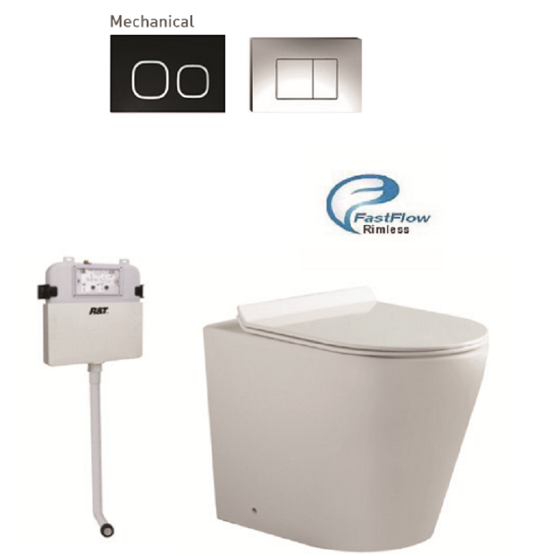 Toilet Bravo/BK Black Button